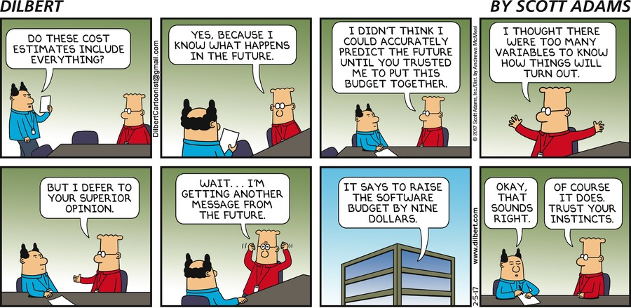 Dilbert Project Management Estimate
