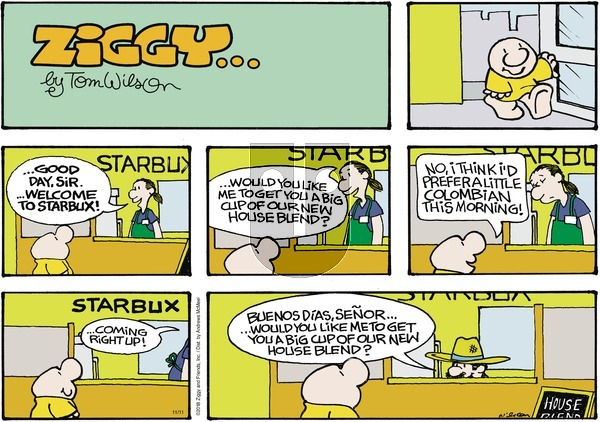 Ziggy on November 11, 2018 Comic Strip