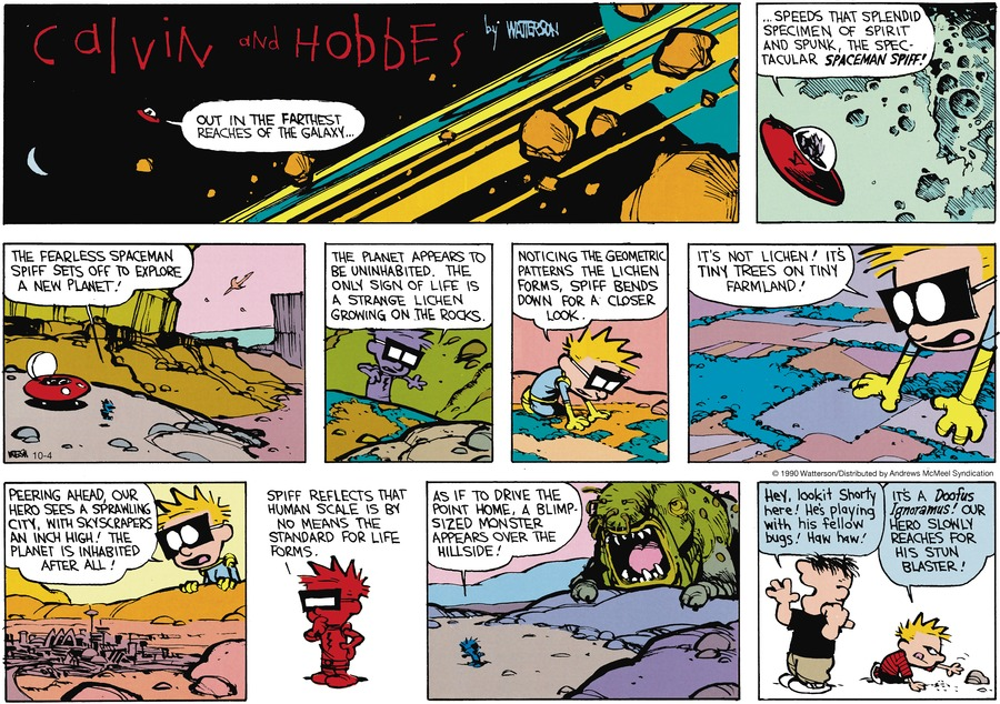 Calvin and Hobbes Comic Strip for October 04, 2020