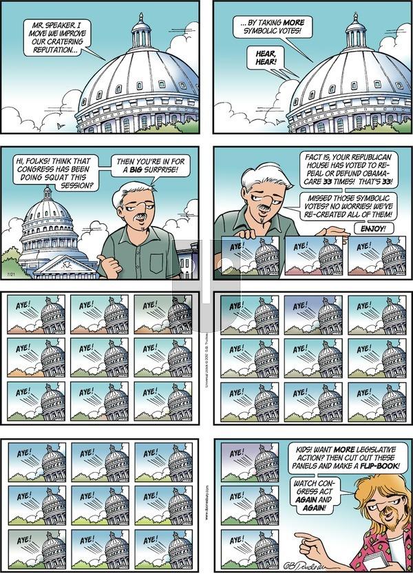 Doonesbury on Sunday July 21, 2013 Comic Strip