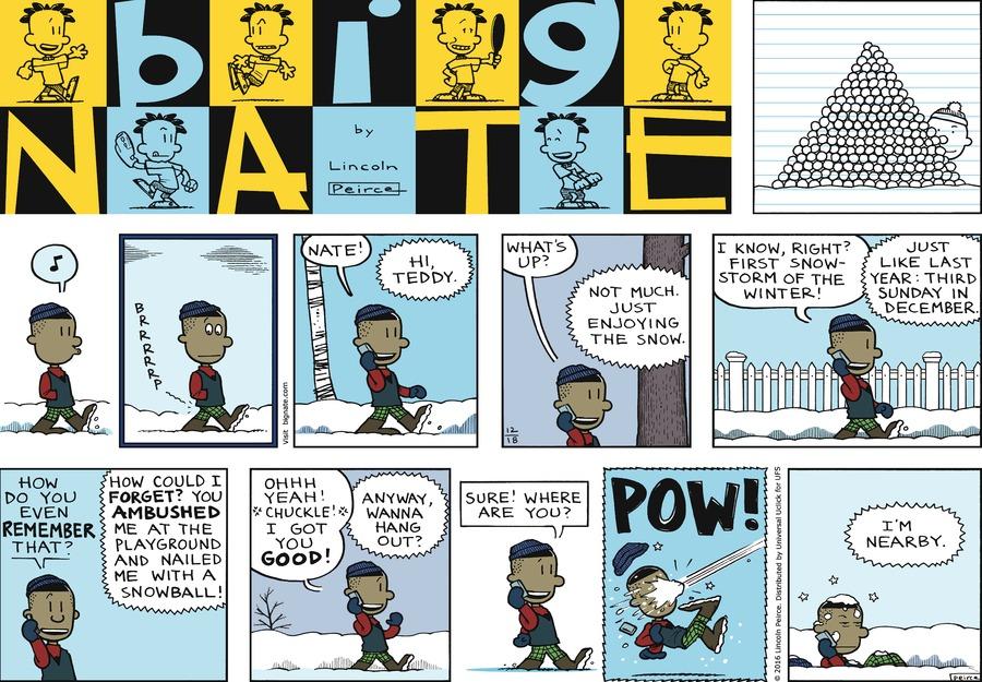 Big Nate Comic Strip for December 18, 2016