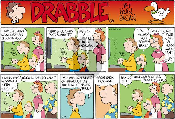 Drabble on Sunday March 18, 2007 Comic Strip
