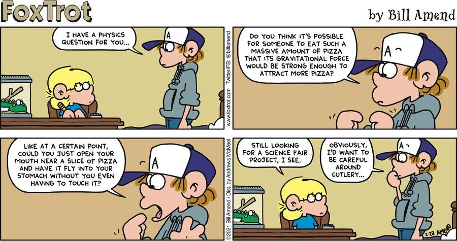 FoxTrot Comic Strip for February 28, 2021