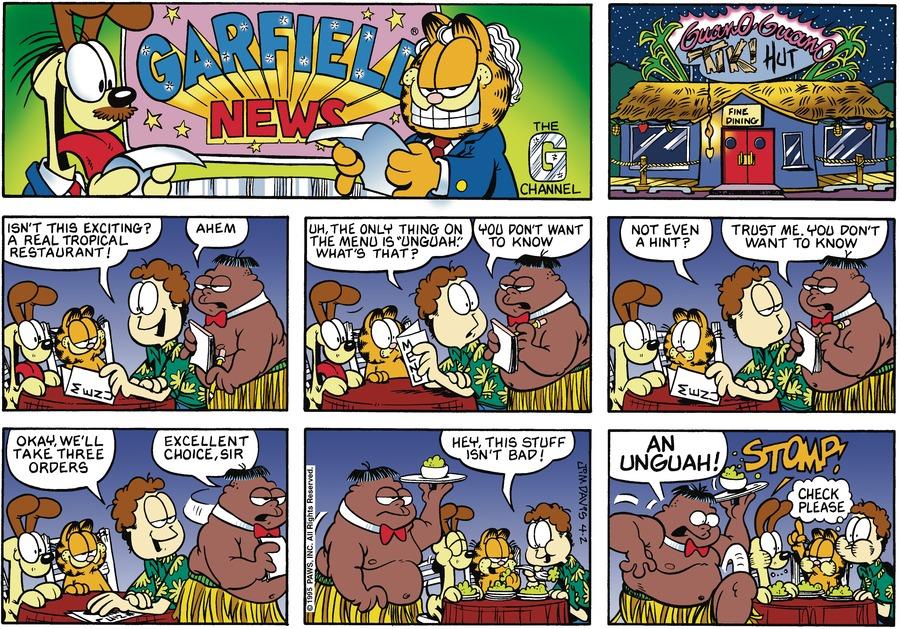 Garfield Comic Strip for April 02, 1995