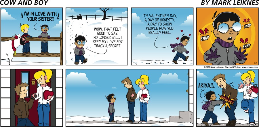 Cow and Boy Classics Comic Strip for February 10, 2008