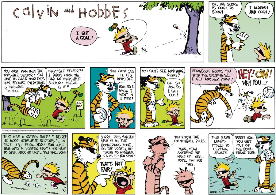Calvin and Hobbes Comic Strip for August 23, 2020
