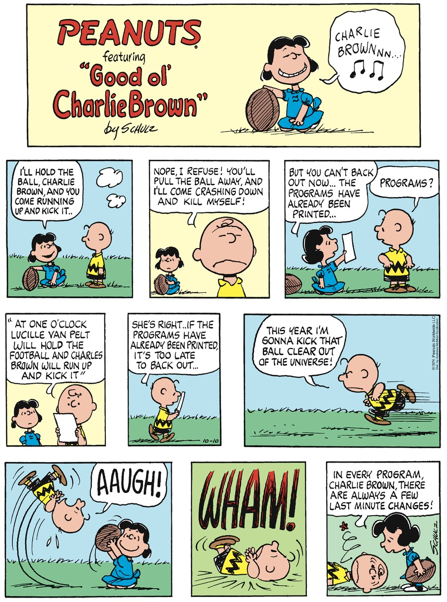 Peanuts by Charles Schulz on Sun, 10 Oct 2021