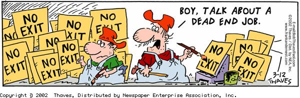 Frank and Ernest Comic Strip for March 12, 2002