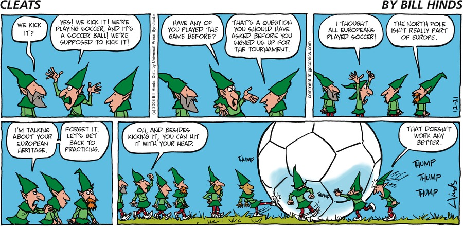 Cleats Comic Strip for December 21, 2008