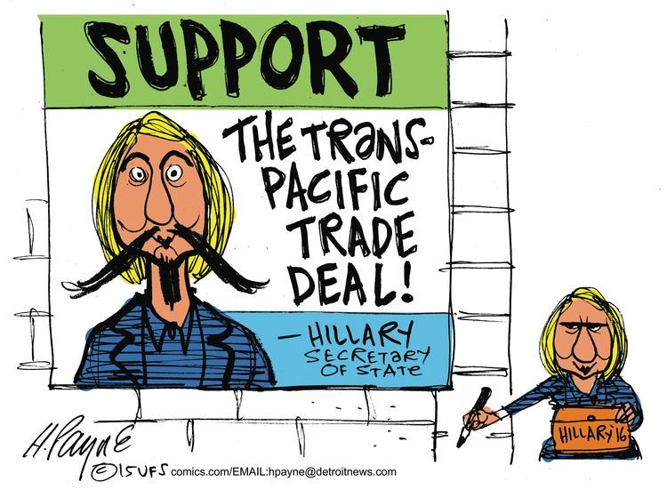 Henry Payne for Oct 11, 2015 Comic Strip