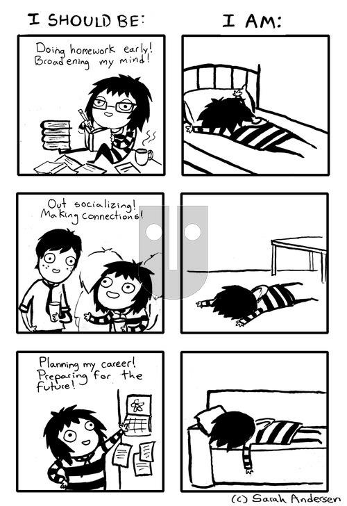 Sarah's Scribbles on Sunday January 12, 2014 Comic Strip