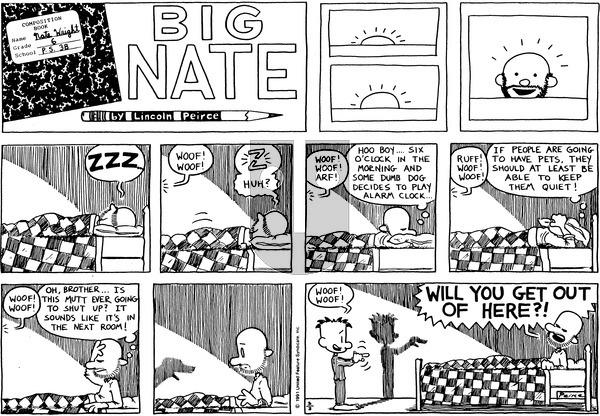 Big Nate - Sunday March 3, 1991 Comic Strip