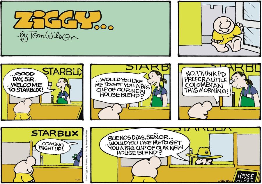Ziggy Comic Strip for November 11, 2018