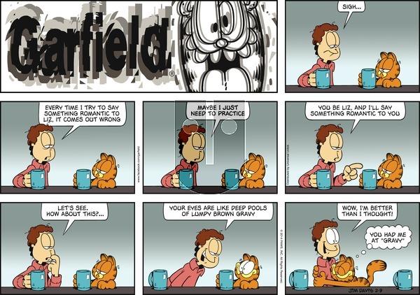 Garfield - Sunday February 9, 2014 Comic Strip