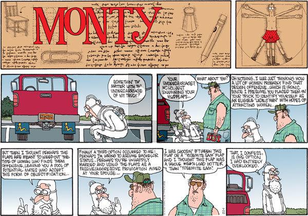Monty on Sunday July 10, 2011 Comic Strip