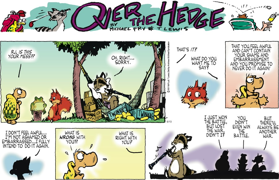 Over the Hedge Comic Strip for June 13, 2021