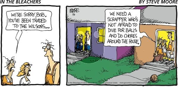 In the Bleachers - Sunday January 6, 2013 Comic Strip