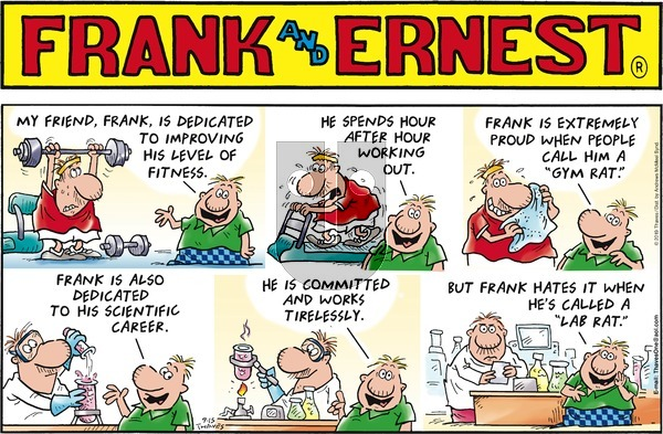 Frank and Ernest on Sunday September 15, 2019 Comic Strip