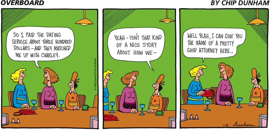 Overboard for Jan 18, 1998 Comic Strip