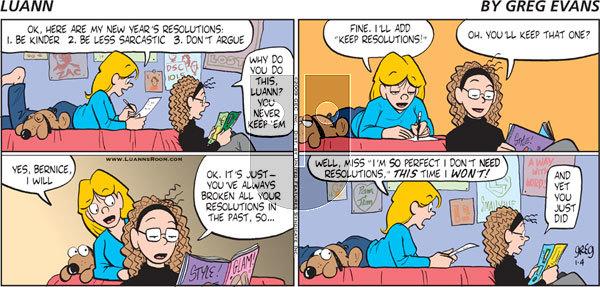 Luann on Sunday January 4, 2009 Comic Strip