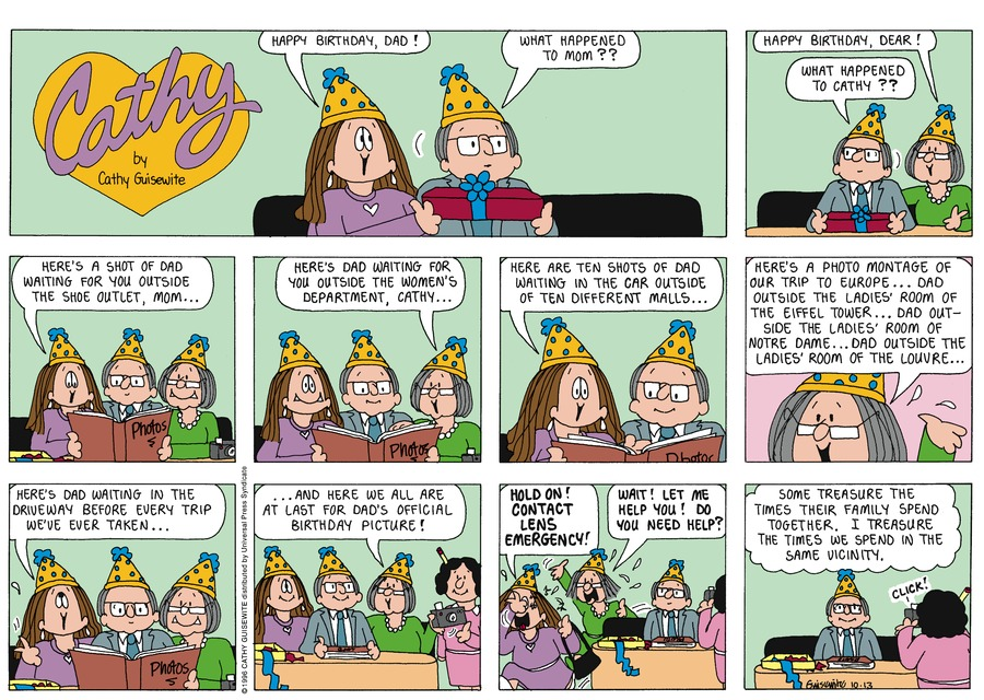 Cathy Classics Comic Strip for October 13, 1996