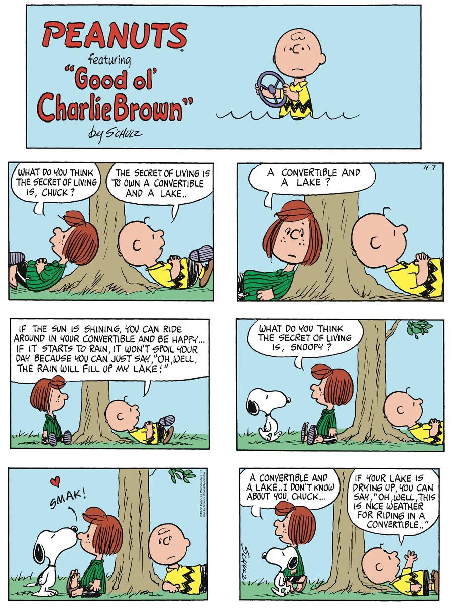 Peanuts Comic Strip for April 07, 2019