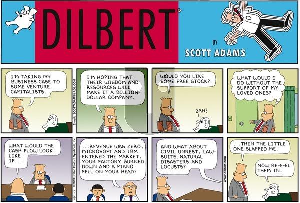 Dilbert on Sunday April 13, 2003 Comic Strip