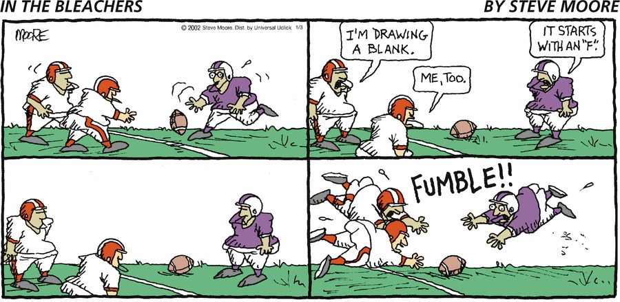 In the Bleachers Comic Strip for January 03, 2016