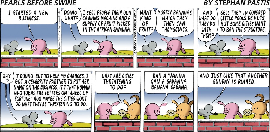 Pearls Before Swine Comic Strip for April 17, 2016