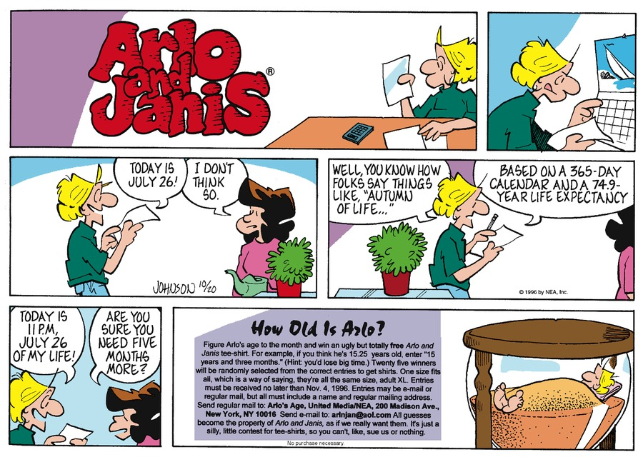 Arlo and Janis for Oct 20, 1996 Comic Strip