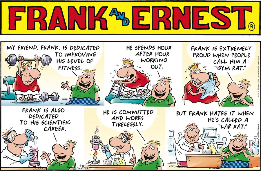 Frank and Ernest Comic Strip for September 15, 2019