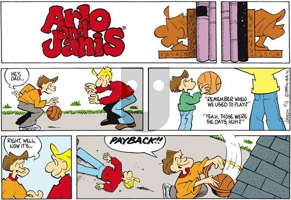 Arlo and Janis on Sunday December 5, 1999 Comic Strip