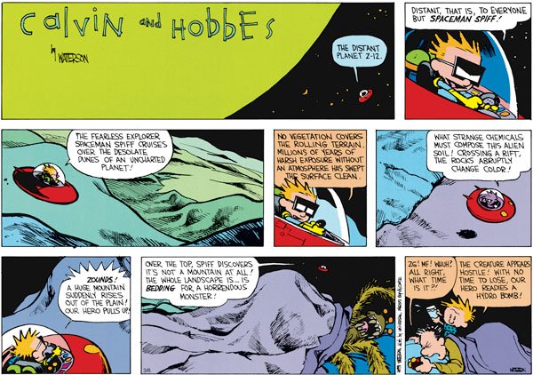 Calvin and Hobbes Comic Strip for March 06, 2011