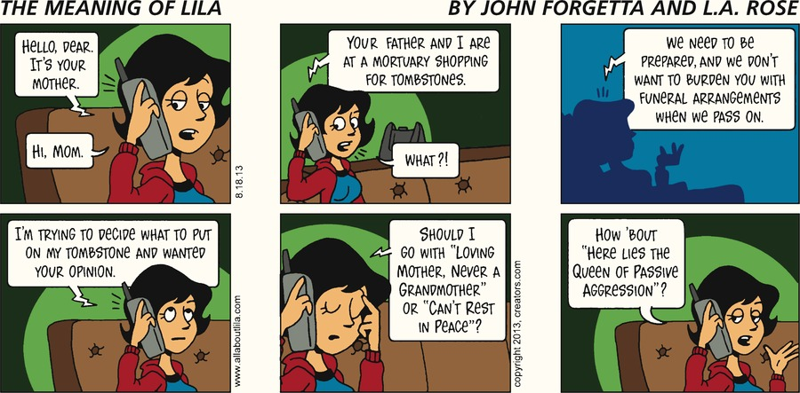 The Meaning of Lila for Aug 18, 2013 Comic Strip