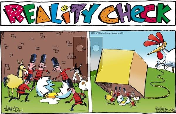 Reality Check on Sunday December 16, 2018 Comic Strip