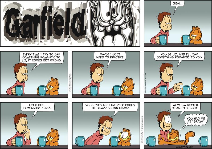 Garfield Comic Strip for February 09, 2014