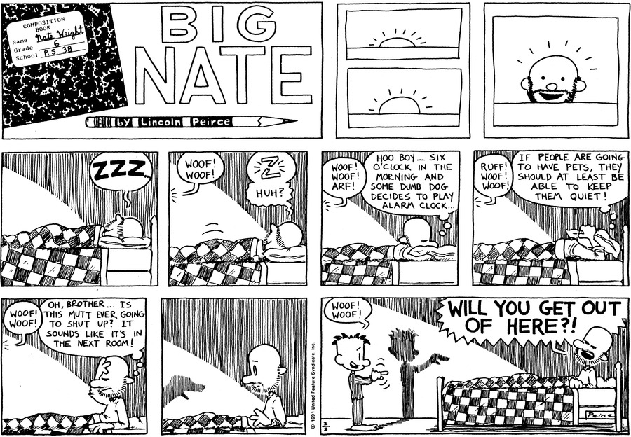 Big Nate Comic Strip for March 03, 1991
