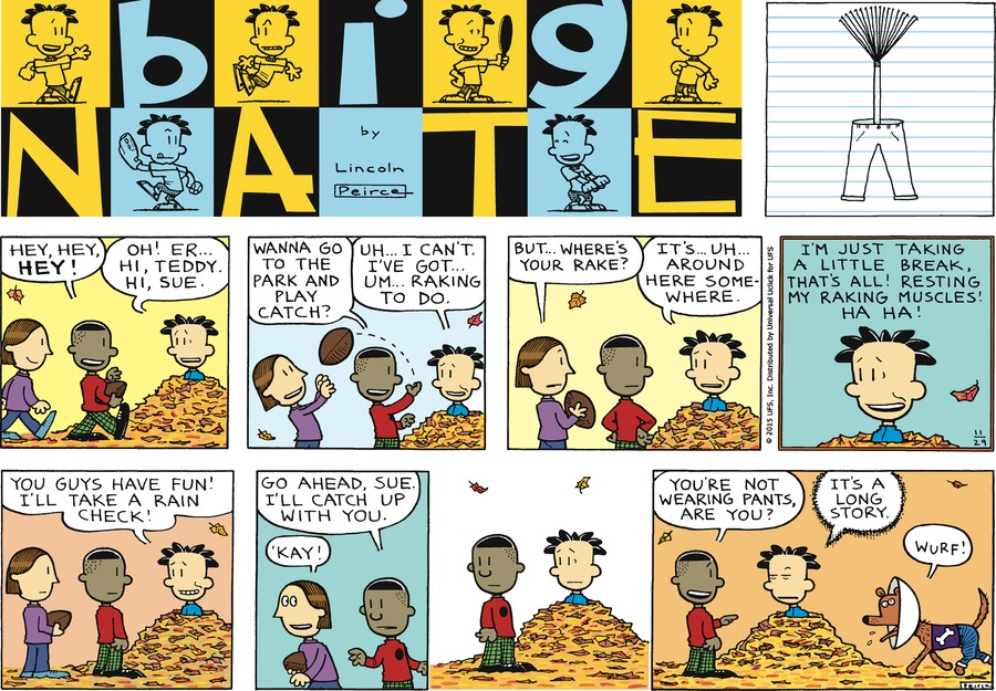 Big Nate Comic Strip for November 29, 2015