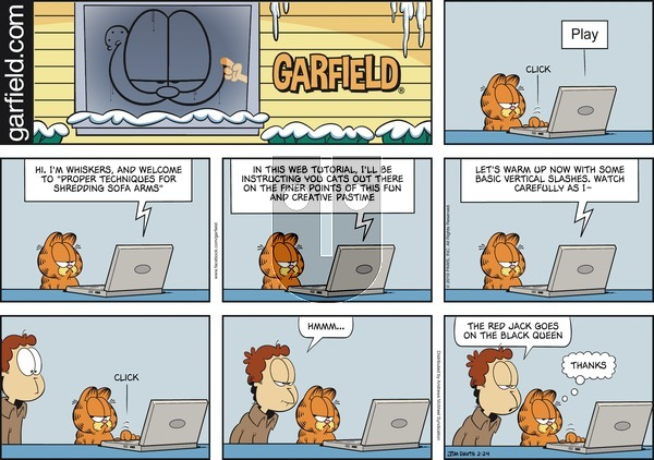 Garfield on Sunday February 24, 2019 Comic Strip