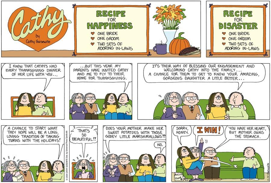 Cathy Classics Comic Strip for November 14, 2004
