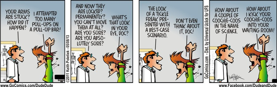 Dude and Dude for May 8, 2013 Comic Strip