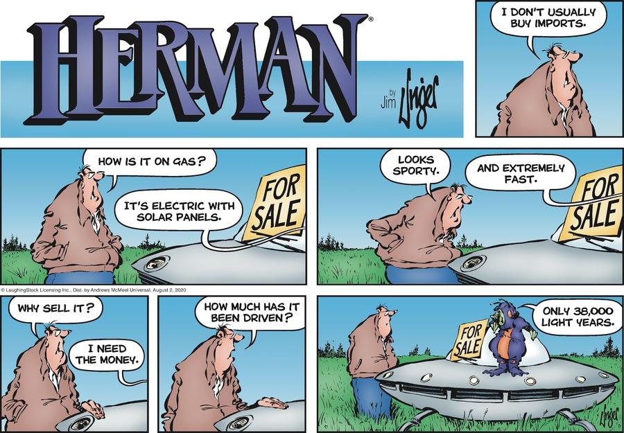 Herman Comic Strip for August 02, 2020