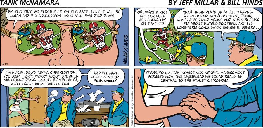 Tank McNamara Comic Strip for October 21, 2012