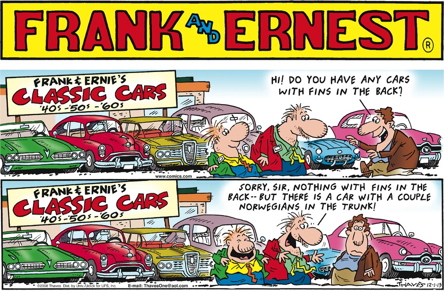 Frank and Ernest Comic Strip for December 01, 2013