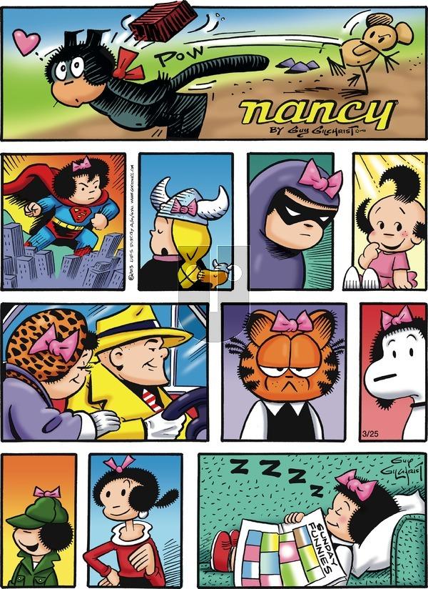 Nancy on Sunday March 25, 2018 Comic Strip