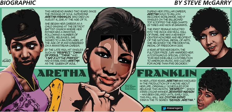 Biographic - Sunday August 16, 2020 Comic Strip