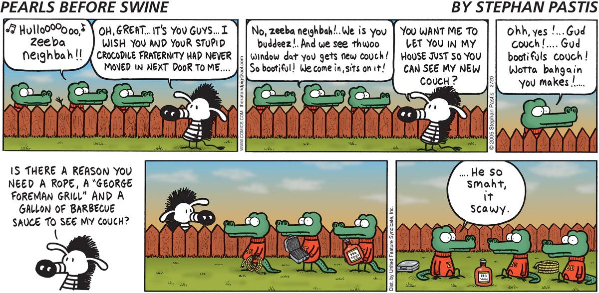 Pearls Before Swine Comic Strip for February 20, 2005