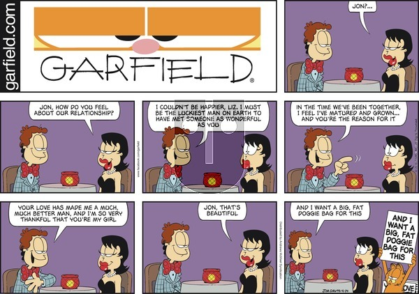 Garfield on Sunday April 14, 2019 Comic Strip