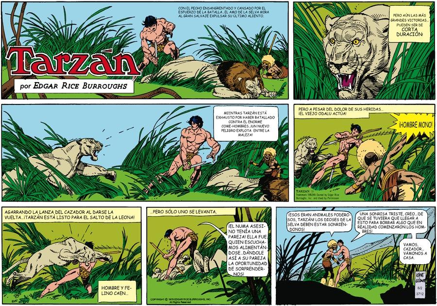 Tarzán en Español Comic Strip for August 02, 2020