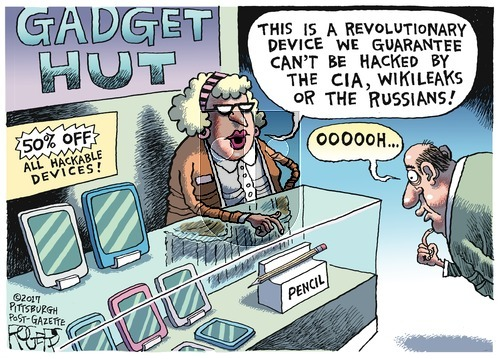 Rob Rogers on Sunday March 12, 2017 Comic Strip